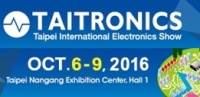 TAITRONICS 2016 (42st Taipei International Electronics Show), 6.-9.10.2016