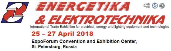 Energetika&Elektrotechnika,25–27April2018,St.Petersburg,Russia